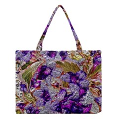 Floral Chrome 2b Medium Tote Bag by MoreColorsinLife