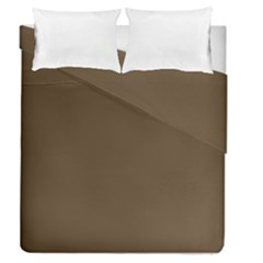Brown Hide Solid Color  Duvet Cover Double Side (queen Size) by SimplyColor