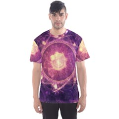A Gold And Royal Purple Fractal Map Of The Stars Men s Sports Mesh Tee
