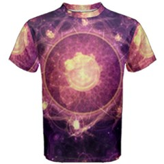 A Gold And Royal Purple Fractal Map Of The Stars Men s Cotton Tee