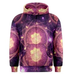 A Gold And Royal Purple Fractal Map Of The Stars Men s Zipper Hoodie