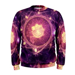 A Gold And Royal Purple Fractal Map Of The Stars Men s Sweatshirt