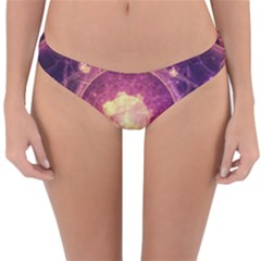 A Gold And Royal Purple Fractal Map Of The Stars Reversible Hipster Bikini Bottoms