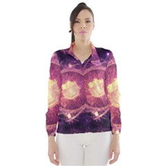 A Gold And Royal Purple Fractal Map Of The Stars Wind Breaker (women)