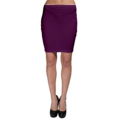 Black Cherry Solid Color Bodycon Skirt by SimplyColor