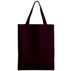 Black Cherry Solid Color Zipper Classic Tote Bag by SimplyColor