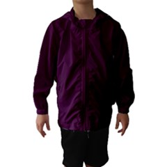 Black Cherry Solid Color Hooded Wind Breaker (kids) by SimplyColor