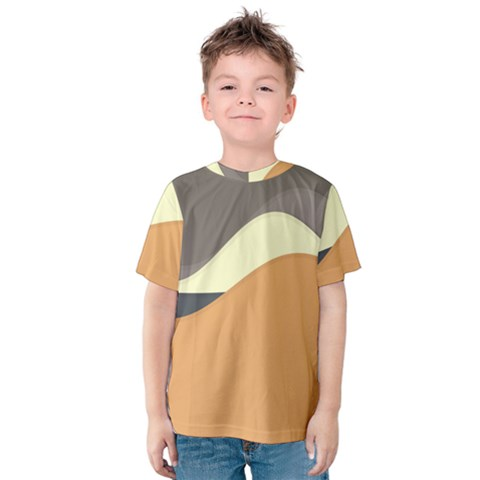 Wave Chevron Waves Material Kids  Cotton Tee by Mariart
