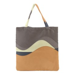 Wave Chevron Waves Material Grocery Tote Bag by Mariart