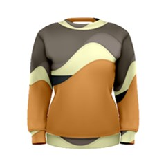 Wave Chevron Waves Material Women s Sweatshirt by Mariart
