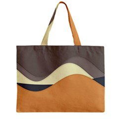 Wave Chevron Waves Material Zipper Mini Tote Bag by Mariart