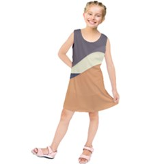 Wave Chevron Waves Material Kids  Tunic Dress by Mariart