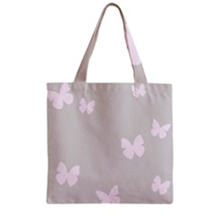 Butterfly Silhouette Organic Prints Linen Metallic Synthetic Wall Pink Zipper Grocery Tote Bag by Mariart