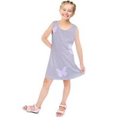 Butterfly Silhouette Organic Prints Linen Metallic Synthetic Wall Pink Kids  Tunic Dress by Mariart