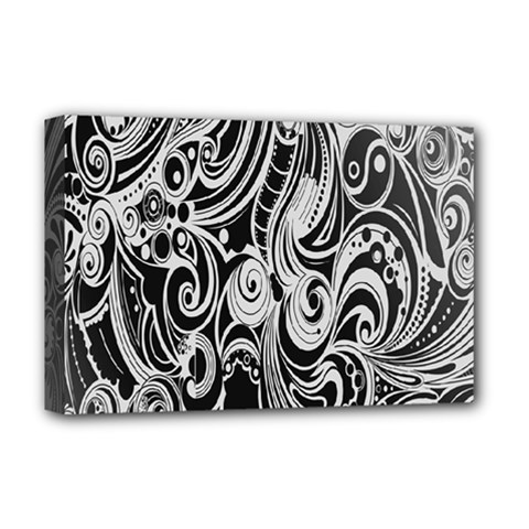 Black White Shape Deluxe Canvas 18  X 12   by Mariart