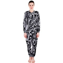 Black White Shape Onepiece Jumpsuit (ladies)