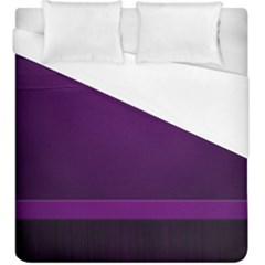 Board Purple Line Duvet Cover (king Size) by Mariart