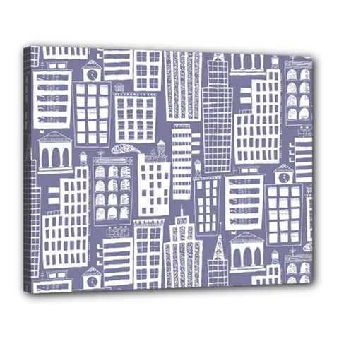 Building Citi Town Cityscape Canvas 20  X 16  by Mariart