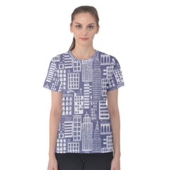 Building Citi Town Cityscape Women s Cotton Tee by Mariart