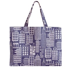 Building Citi Town Cityscape Medium Zipper Tote Bag by Mariart