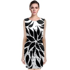 Flower Fish Black Swim Classic Sleeveless Midi Dress by Mariart