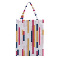 Geometric Line Vertical Rainbow Classic Tote Bag by Mariart