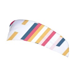 Geometric Line Vertical Rainbow Stretchable Headband by Mariart