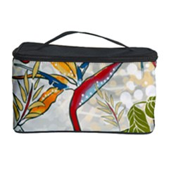 Flower Floral Red Green Tropical Cosmetic Storage Case