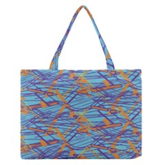 Geometric Line Cable Love Medium Zipper Tote Bag by Mariart