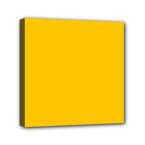 Amber Solid Color  Mini Canvas 6  X 6  by SimplyColor