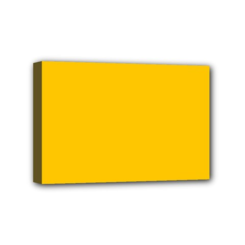 Amber Solid Color  Mini Canvas 6  X 4  by SimplyColor