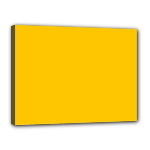 Amber Solid Color  Canvas 16  X 12  by SimplyColor