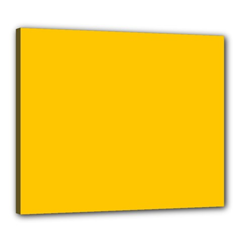 Amber Solid Color  Canvas 24  X 20  by SimplyColor