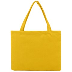 Amber Solid Color  Mini Tote Bag by SimplyColor