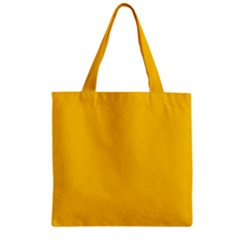 Amber Solid Color  Zipper Grocery Tote Bag by SimplyColor
