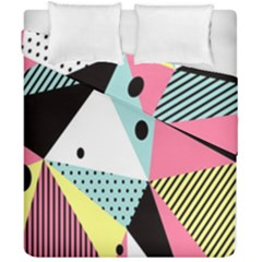 Geometric Polka Triangle Dots Line Duvet Cover Double Side (california King Size) by Mariart