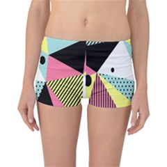 Geometric Polka Triangle Dots Line Reversible Boyleg Bikini Bottoms