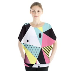Geometric Polka Triangle Dots Line Blouse by Mariart