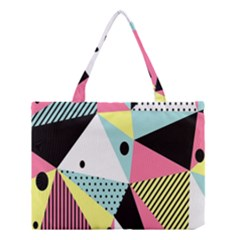 Geometric Polka Triangle Dots Line Medium Tote Bag by Mariart