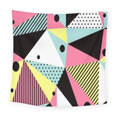 Geometric Polka Triangle Dots Line Square Tapestry (large)