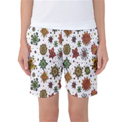 Flower Floral Sunflower Rose Pattern Base Women s Basketball Shorts by Mariart