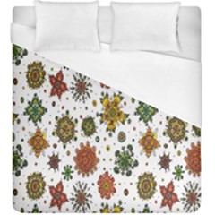 Flower Floral Sunflower Rose Pattern Base Duvet Cover (king Size) by Mariart