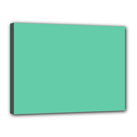 Aquamarine Solid Color  Canvas 16  X 12  by SimplyColor