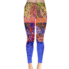 Glitchdrips Shadow Color Fire Leggings  by Mariart