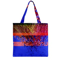 Glitchdrips Shadow Color Fire Grocery Tote Bag by Mariart