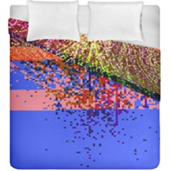 Glitchdrips Shadow Color Fire Duvet Cover Double Side (king Size) by Mariart