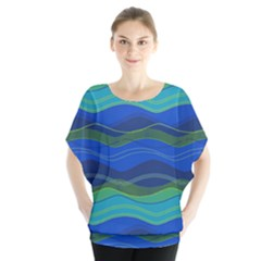 Geometric Line Wave Chevron Waves Novelty Blouse by Mariart