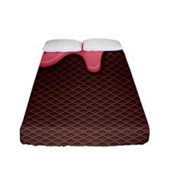 Ice Cream Pink Choholate Plaid Chevron Fitted Sheet (full/ Double Size) by Mariart