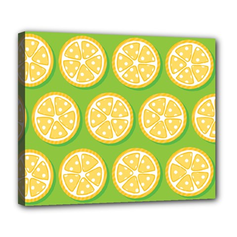 Lime Orange Yellow Green Fruit Deluxe Canvas 24  X 20   by Mariart