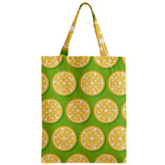 Lime Orange Yellow Green Fruit Zipper Classic Tote Bag by Mariart